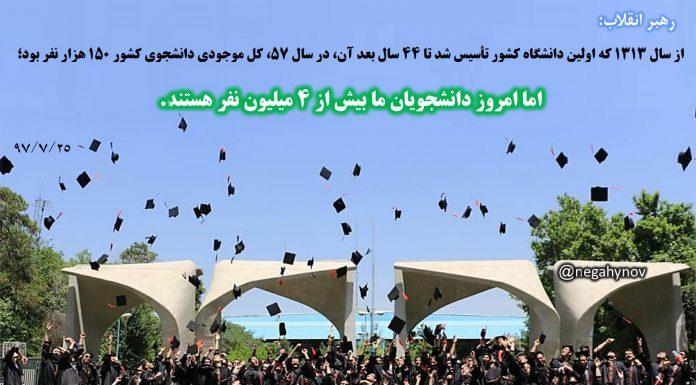 چهار میلیون دانشجو - دستاوردهای انقلاب