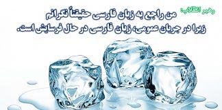 زبان فارسی ، مقام معظم رهبری - نگاهی نو